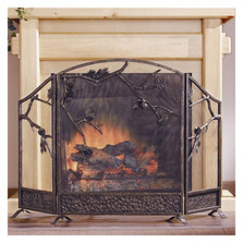Pinecone Cast Iron Fireplace Screen | 31765 | SPI Home