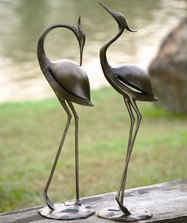 Heron Pair Garden Sculptures | 33350 | SPI Home