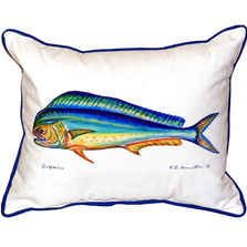 Mahi Dolphin Fish Indoor Outdoor Pillow 20x24   Betsy Drake   BDZP010