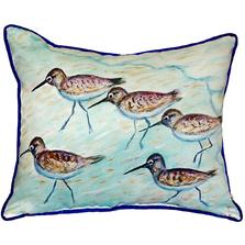 Sandpiper Indoor Outdoor Pillow 20x24   Betsy Drake   BDZP269