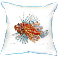 Lionfish Indoor Outdoor Pillow 22x22 | Betsy Drake | BDZP093