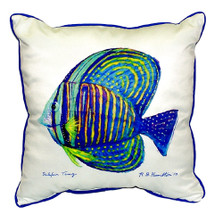 Sailfin Tang Indoor Outdoor Pillow 22x22 | Betsy Drake | BDZP678