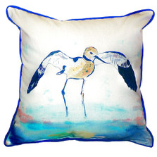 Avocet Wading Indoor Outdoor Pillow 22x22 | Betsy Drake | BDZP324