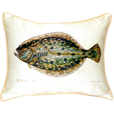 Flounder Indoor Outdoor Pillow 20x24 | Betsy Drake | BDZP014