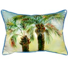 Palm Tree Pair Indoor Outdoor Pillow 20x24 | Betsy Drake | BDZP385