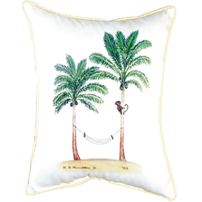 Monkey and Palm Tree Indoor Outdoor Pillow 20x24 | Betsy Drake | BDZP085
