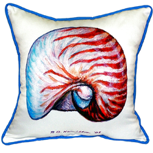 Nautilus Indoor Outdoor Pillow 22x22 | Betsy Drake | BDZP118