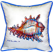 Conch Shell Indoor Outdoor Pillow 22x22 | Betsy Drake | BDZP094