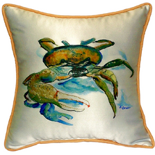 Fiddler Crab Indoor Outdoor Pillow 22x22 | Betsy Drake | BDZP106