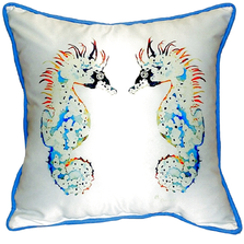 Seahorse Pair Indoor Outdoor Pillow 22x22 | Betsy Drake | BDZP388