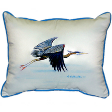 Flying Blue Heron Indoor Outdoor Pillow 20x24 | Betsy Drake | BDZP327
