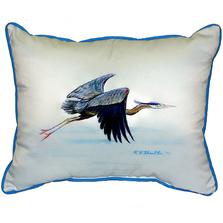 Flying Blue Heron Indoor Outdoor Pillow 20x24 | Betsy Drake | BDZP327