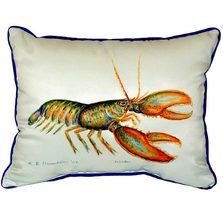 Lobster Art Indoor Outdoor Pillow 20x24 | Betsy Drake | BDZP081