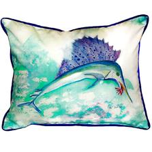 Sailfish Indoor Outdoor Pillow 20x24 | Betsy Drake | BDZP446