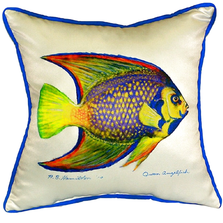 Queen Angelfish Indoor Outdoor Pillow 22x22 | Betsy Drake | BDZP769