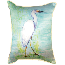 Snowy Egret Indoor Outdoor Pillow 20x24 | Betsy Drake | BDZP025