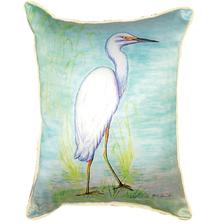 Snowy Egret Indoor Outdoor Pillow 20x24 | Betsy Drake | BDZP025