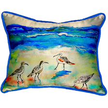 Sandpiper Beach Indoor Outdoor Pillow 20x24 | Betsy Drake | BDZP369
