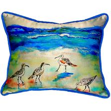 Sandpiper Beach Indoor Outdoor Pillow 20x24   Betsy Drake   BDZP369