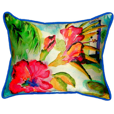 Hibiscus Lighthouse Indoor Outdoor Pillow 20x24 | Betsy Drake | BDZP225