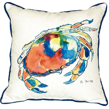 Dungeness Crab Indoor Outdoor Pillow 22x22 | Betsy Drake | BDZP103