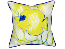 Yellow Tang Indoor Outdoor Pillow 22x22 | Betsy Drake | BDZP673