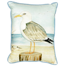 Seagull Indoor Outdoor Pillow 20x24 | Betsy Drake | BDZP271