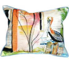 Pelican Scene Indoor Outdoor Pillow 20x24 | Betsy Drake | BDZP036
