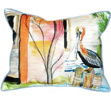 Pelican Scene Indoor Outdoor Pillow 20x24 | Betsy Drake | BDZP036