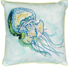 Jellyfish Indoor Outdoor Pillow 22x22 | Betsy Drake | BDZP056