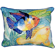 Fish Pair Indoor Outdoor Pillow 20x24 | Betsy Drake | BDZP300