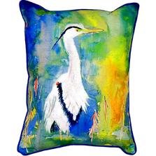 Blue Heron Scene Indoor Outdoor Pillow 20x24 | Betsy Drake | BDZP329