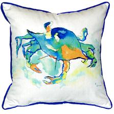 Orange Crab Indoor Outdoor Pillow 22x22 | Betsy Drake | BDZP107