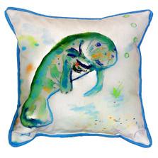 Manatee Indoor Outdoor Pillow 22x22 | Betsy Drake | BDZP061