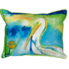White Pelican Indoor Outdoor Pillow 20x24 | Betsy Drake | BDZP138