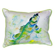 Yellow Perch Indoor Outdoor Pillow 20x24 | Betsy Drake | BDZP064