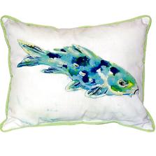 Blue Koi Indoor Outdoor Pillow 20x24 | Betsy Drake | BDZP136