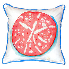 Coral Sand Dollar Indoor Outdoor Pillow 22x22 | Betsy Drake | BDZP092