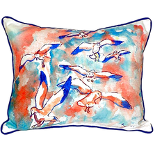 Seagull Flock Indoor Outdoor Pillow 20x24 | Betsy Drake | BDZP153