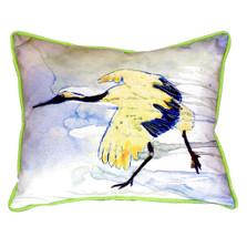 Yellow Crane Indoor Outdoor Pillow 20x24 | Betsy Drake | BDZP163