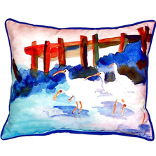 White Ibis Indoor Outdoor Pillow 20x24 | Betsy Drake | BDZP173
