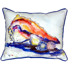 Conch Shell Scene Indoor Outdoor Pillow 20x24 | Betsy Drake | BDZP290