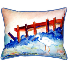 Great White Heron Scene Indoor Outdoor Pillow 20x24 | Betsy Drake | BDZP329