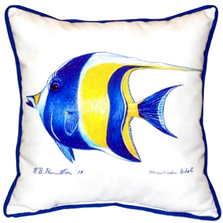 Moorish Idol Indoor Outdoor Pillow 22x22 | Betsy Drake | BDZP297