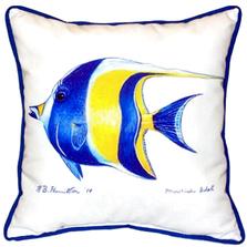 Moorish Idol Indoor Outdoor Pillow 22x22 | Betsy Drake | BDZP297
