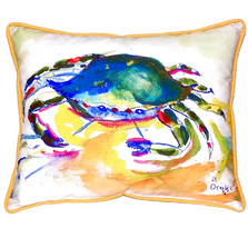 Green Crab Indoor Outdoor Pillow 20x24 | Betsy Drake | BDZP263