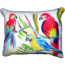 Parrot Trio Indoor Outdoor Pillow 20x24 | Betsy Drake | BDZP392