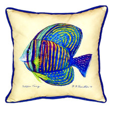 Sailfin Tang Yellow Indoor Outdoor Pillow 22x22 | Betsy Drake | BDZP678C