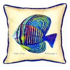 Sailfin Tang Yellow Indoor Outdoor Pillow 22x22 | Betsy Drake | BDZP678C