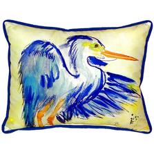 Blue Heron Indoor Outdoor Pillow 20x24 | Betsy Drake | BDZP963